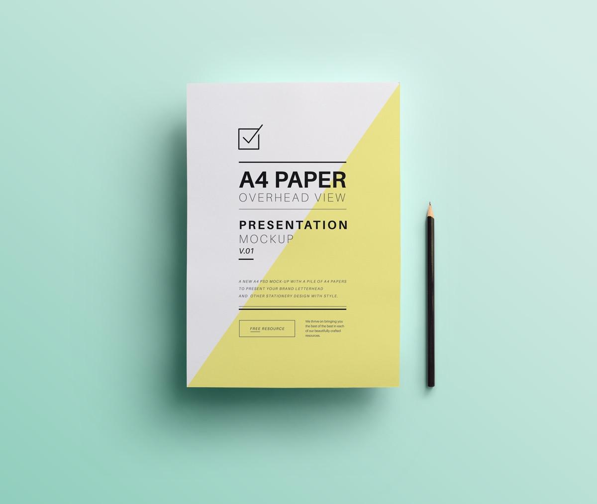 Bold, Angular Paper Presentation