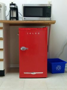 Cool retro but new fridge!